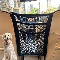 $20 » 3-Layer Car Mesh Organizer, Seat Back Net Bag, Barrier of Backseat Pet Kids, Cargo Tissue…