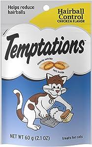 TEMPTATIONS Hairball Control Cat Treats, Chicken Flavor