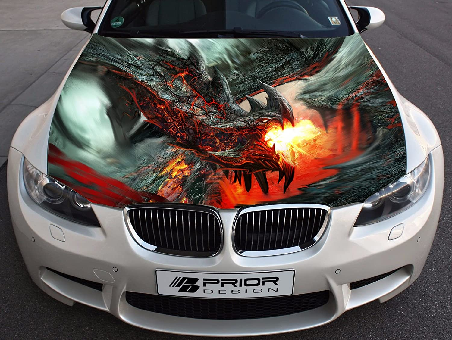 Amazon com dragon full color sticker car hood vinyl sticker car vinyl graphics decal wrap car hood graphics fit any vehicles mh7 baby
