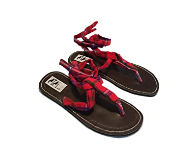 SISI mbili - Sandalias de vestir de Piel para mujer rojo rojo rojo Size: 37 5XSR3