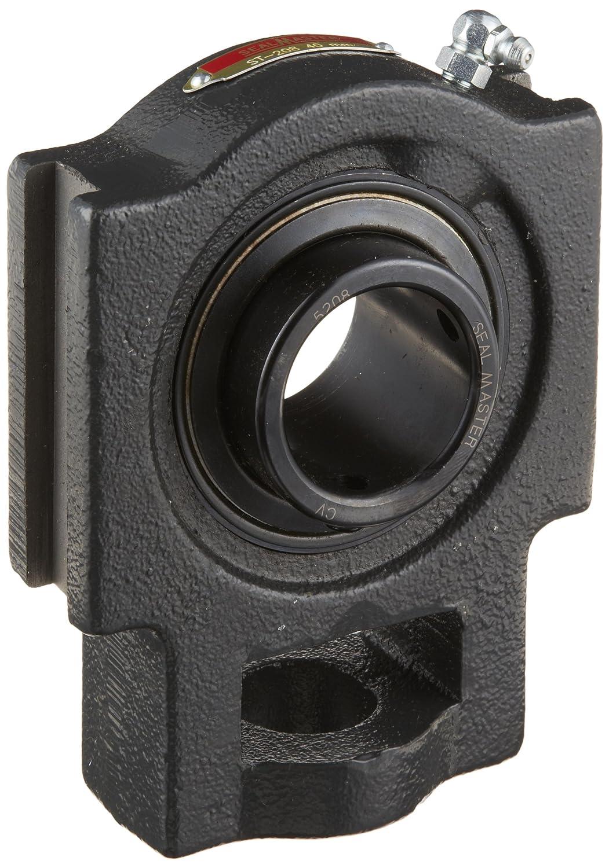 Sealmaster ST-208 Take-Up Unit, Standard Duty, Regreasable, Set Screw Locking Collar, Felt Seals, Cast Iron Housing, 40 mm Bore, 11/16\' Slot Width, 4\' Between Frames