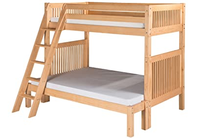Amazon Com Camaflexi Mission Style Solid Wood Bunk Bed Twin Over