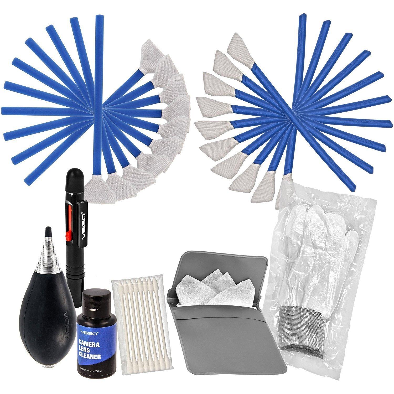 VSGO Camera Cleaning Kit All-Powerful Edition DKL-3 Full Frame APS-C Sensor Cleaning Swab Air Blower Anti-Static Gloves Lens Pen, Blue