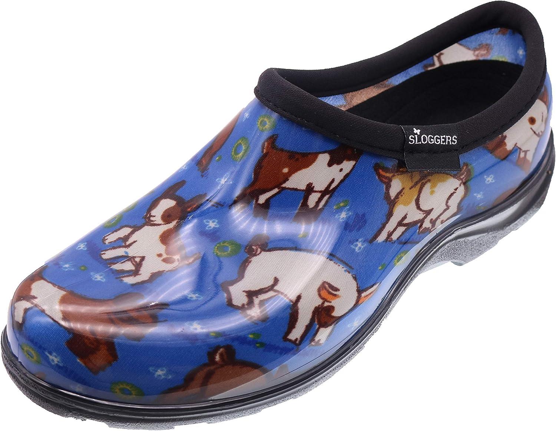Sloggers Women's Goat Print Short Rain Shoes, 11, Blue