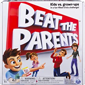 Spin Master Games Beat The Parents, Family Board Game of Kids Vs. Parents with Wacky Challenges (Edition May Vary)