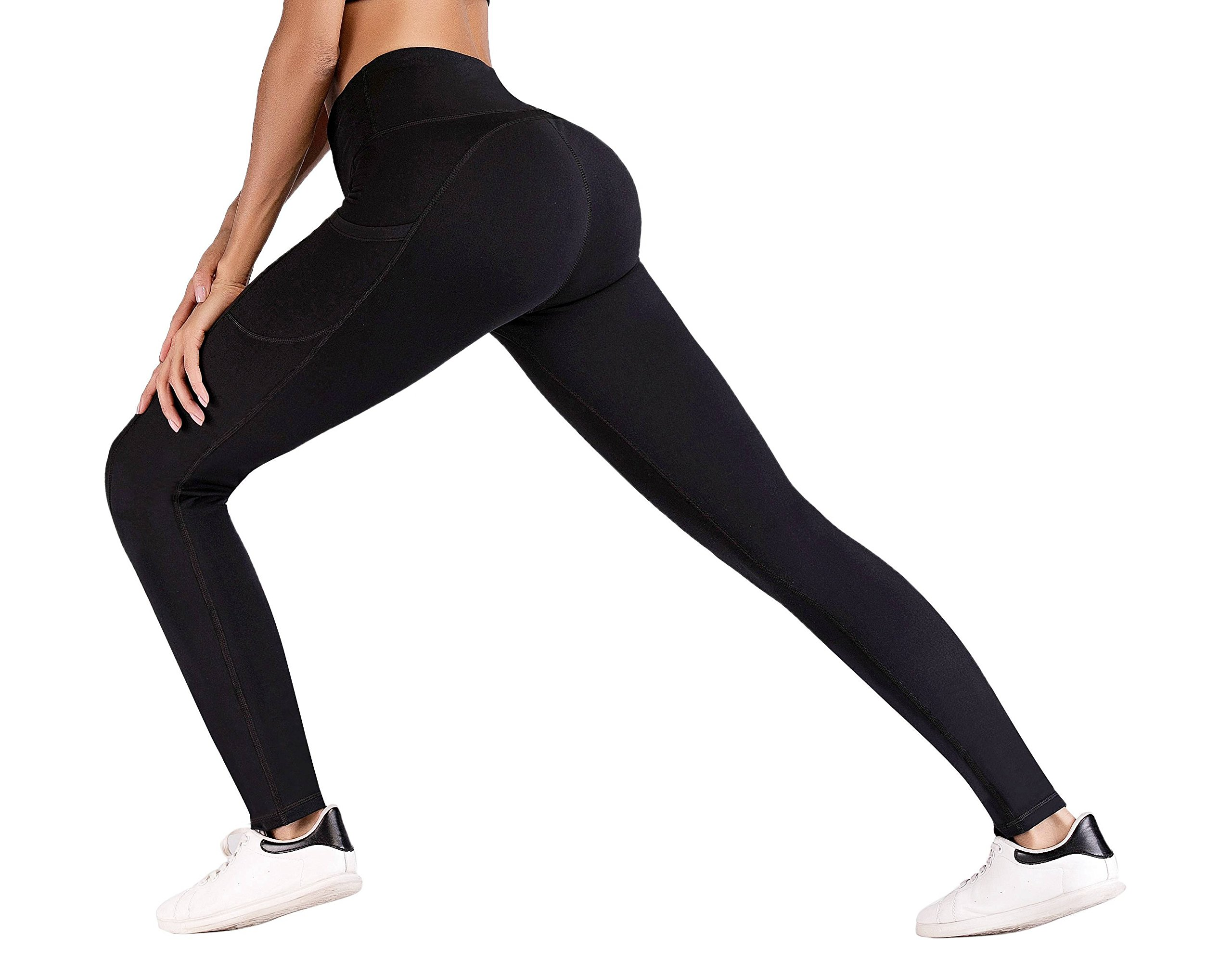 IUGA High Waist Yoga Pants with Pockets, Tummy Control, Workout Pants for Women 4 Way Stretch Yoga Leggings with Pockets by IUGA (Image #3)