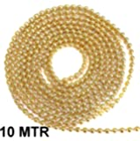 Golden Ball Chain 2 mm 10 mtr Pack for Silk Thread Jewellery Making, Silk Thread Jhumka and Bangle Making