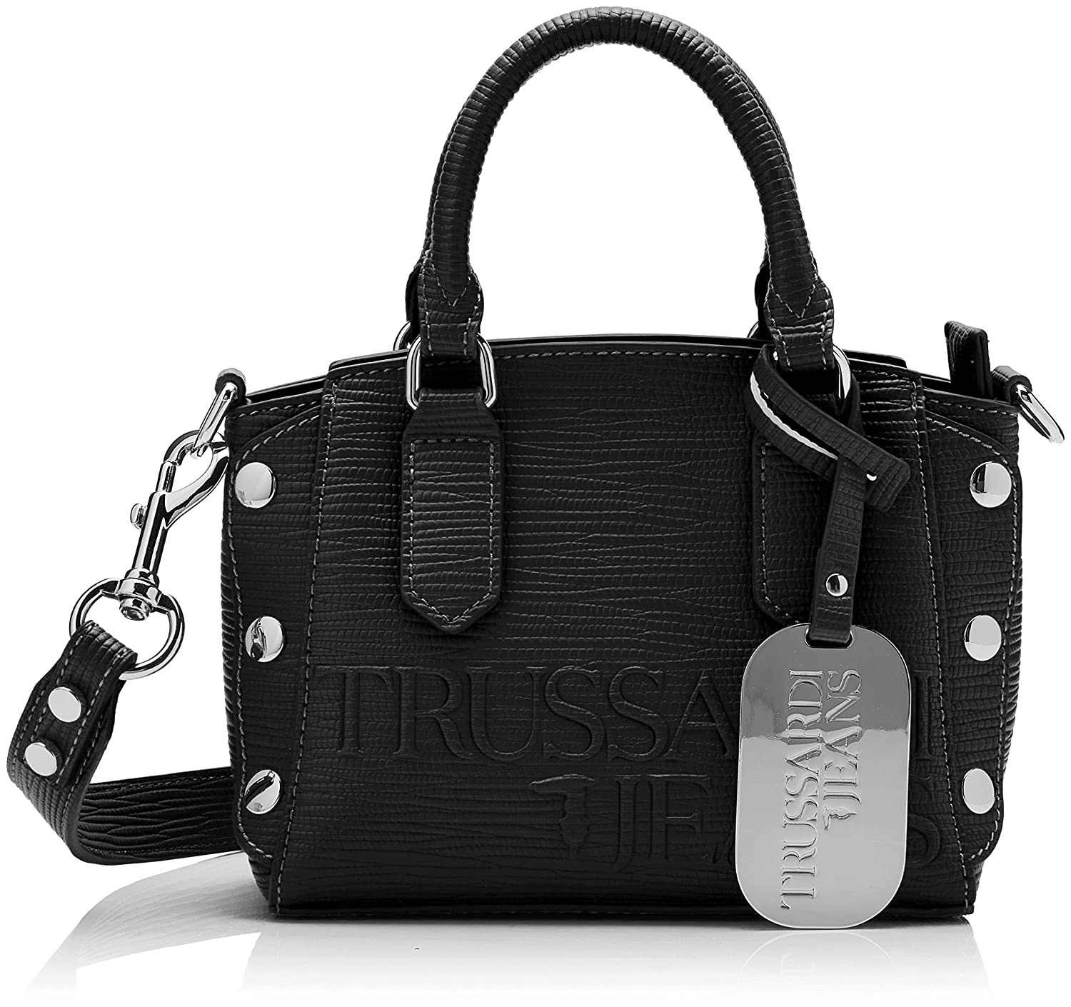 Black Trussardi Jeans Women's Melly Tote Xs Tote Bag