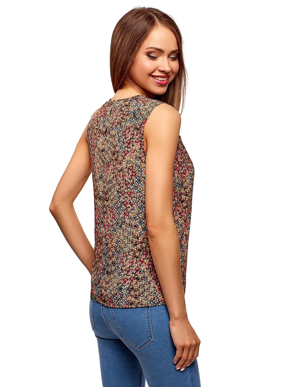 oodji Ultra Mujer Blusa con Volantes y Escote Gota en La Espalda: Amazon.es: Ropa y accesorios