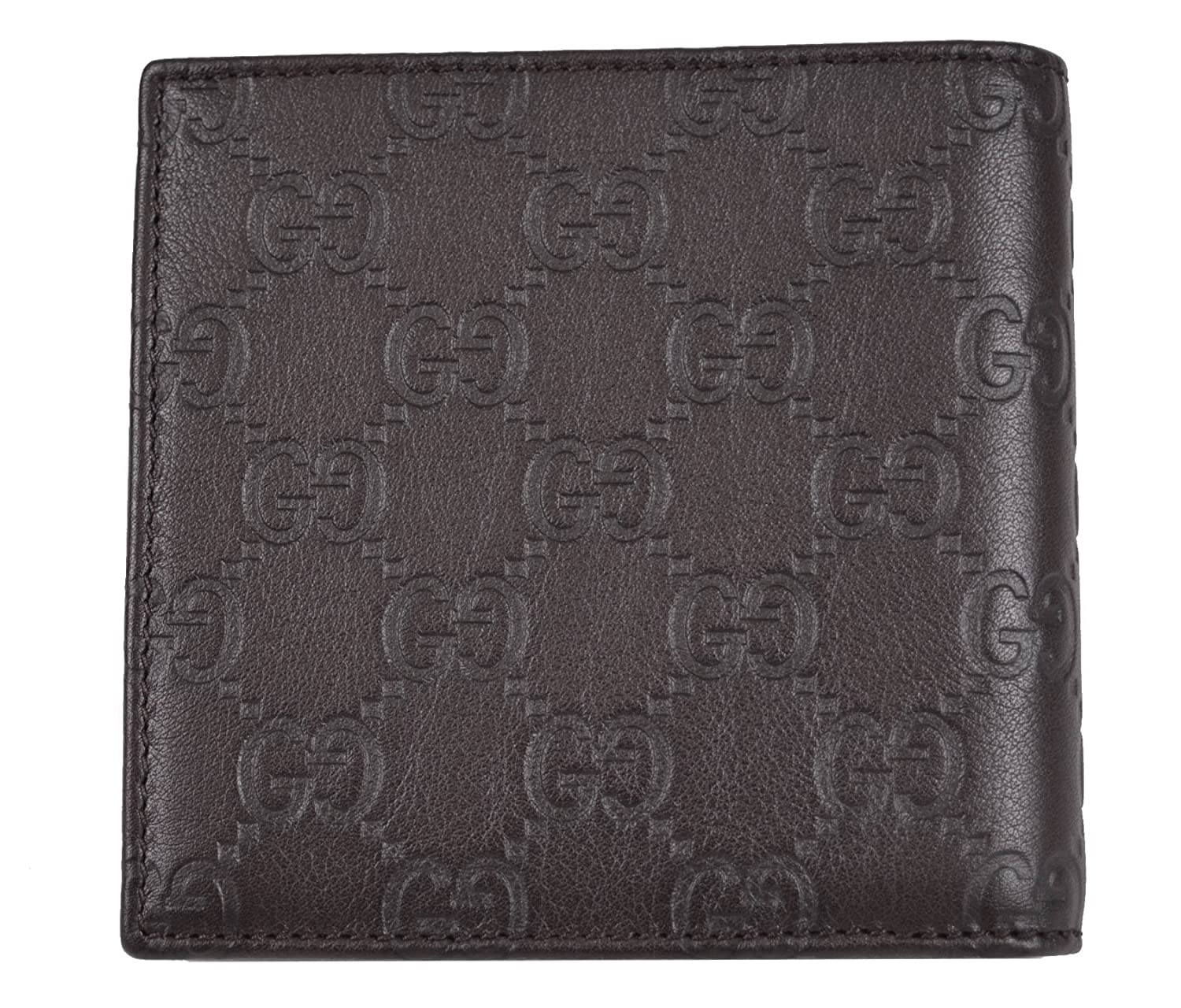 2cc683f78685 Gucci Men's 150413 Brown Leather GG Guccissima Coin Pocket Bifold Wallet  O/S at Amazon Men's Clothing store:
