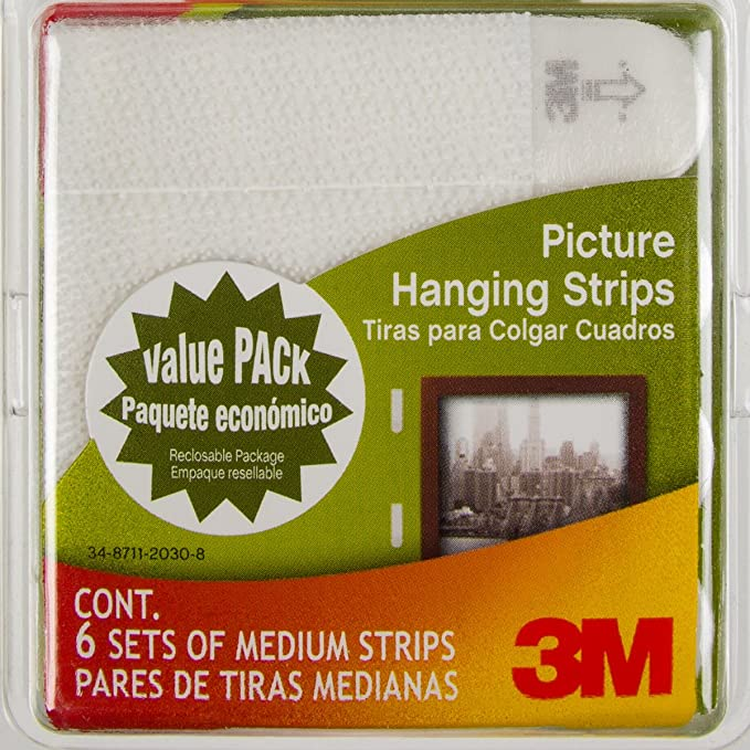 Command 3m 12ct Pack Picture Frame Hanging Strips Sets Medium
