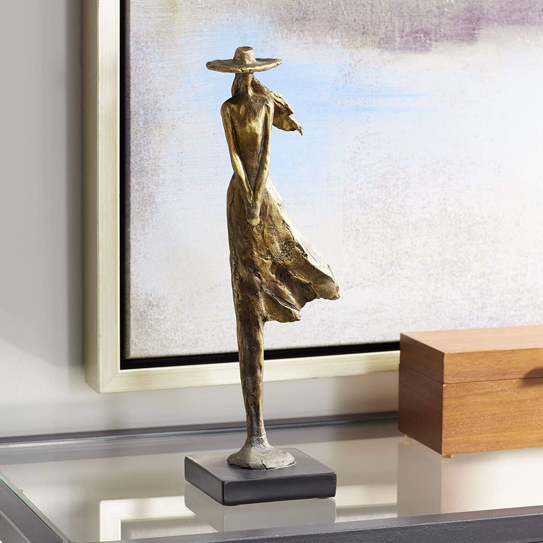 "Kensington Hill Standing Girl 14 1/4"" High Copper Statue"