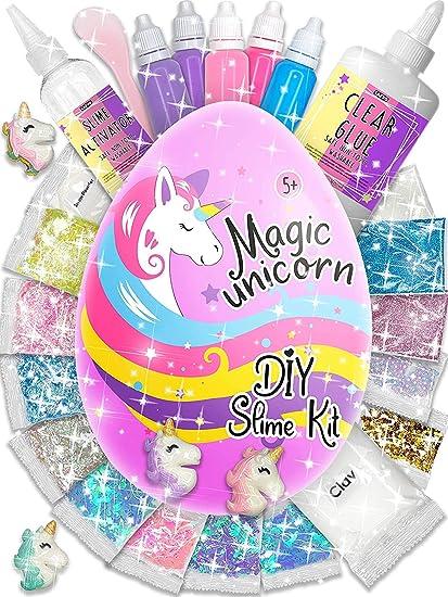 Amazon.com: Surprise Unicorn Slime Kit para niñas – Kit para ...