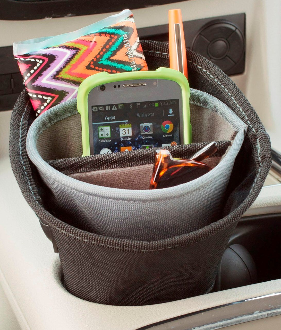 High Road Cupholder Cell Phone Holder and Charging Station High Road Organizers HR-DRC-7501