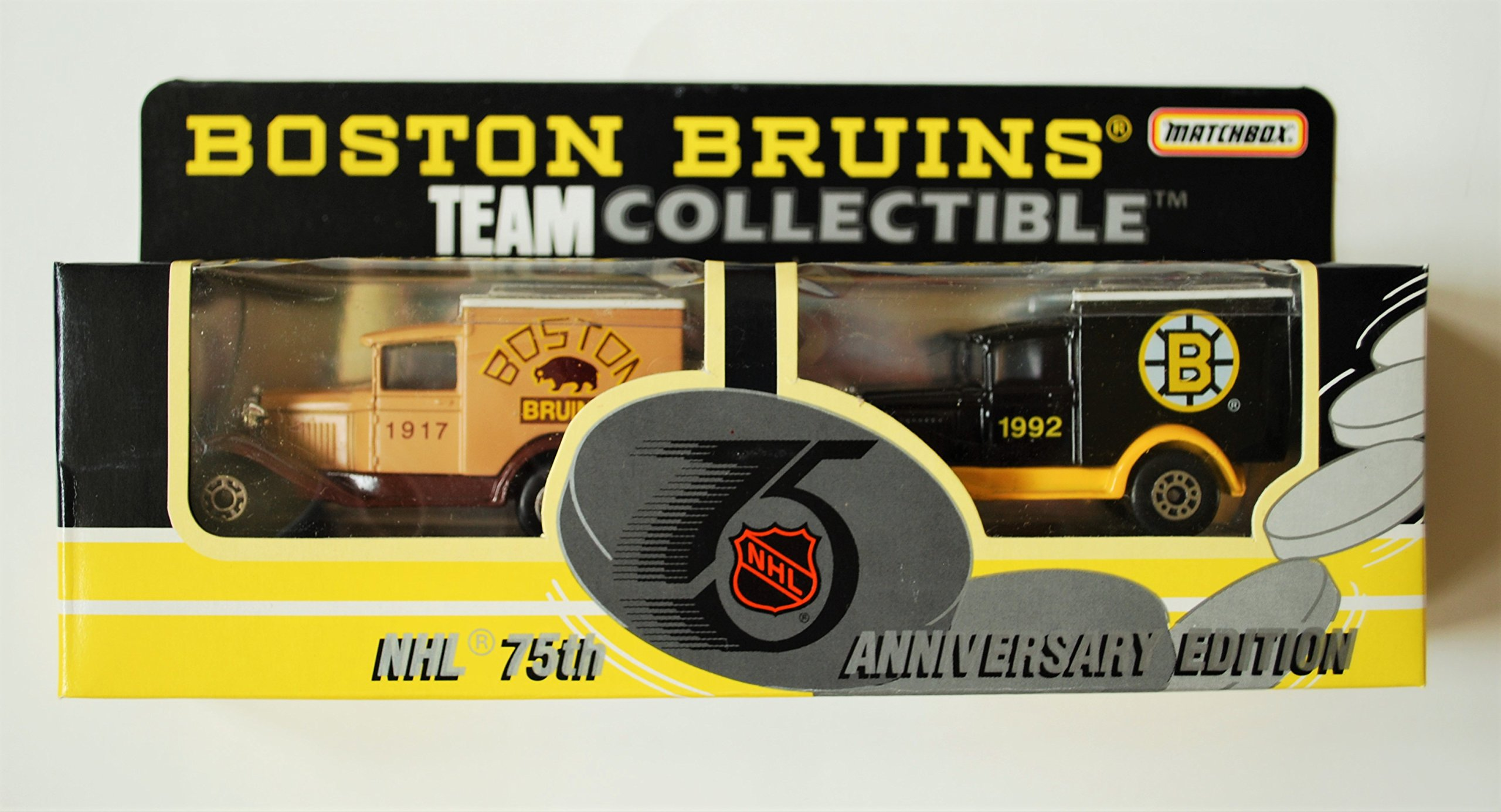 1992 Matchbox NHL Team Collectible 1:64 Scale Die Cast 2 Piece Truck Set BOSTON BRUINS