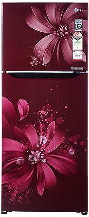 LG 260 L 3 Star Frost Free Double Door Refrigerator(GL-Q292SSAY, Scarlet Aster, Inverter Compressor)