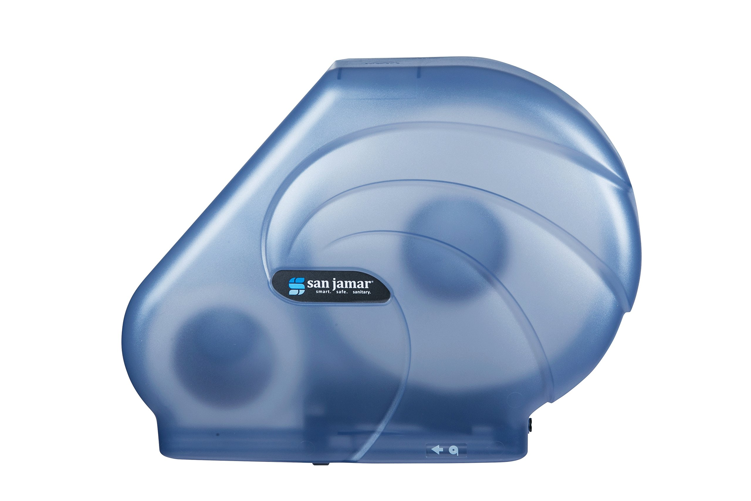 San Jamar R3090 Oceans Reserva 9'' - 10-1/2'' Jumbo Bath Tissue Dispenser, 16-3/4'' Width x 12-1/4'' Height x 5-1/2'' Depth, Arctic Blue