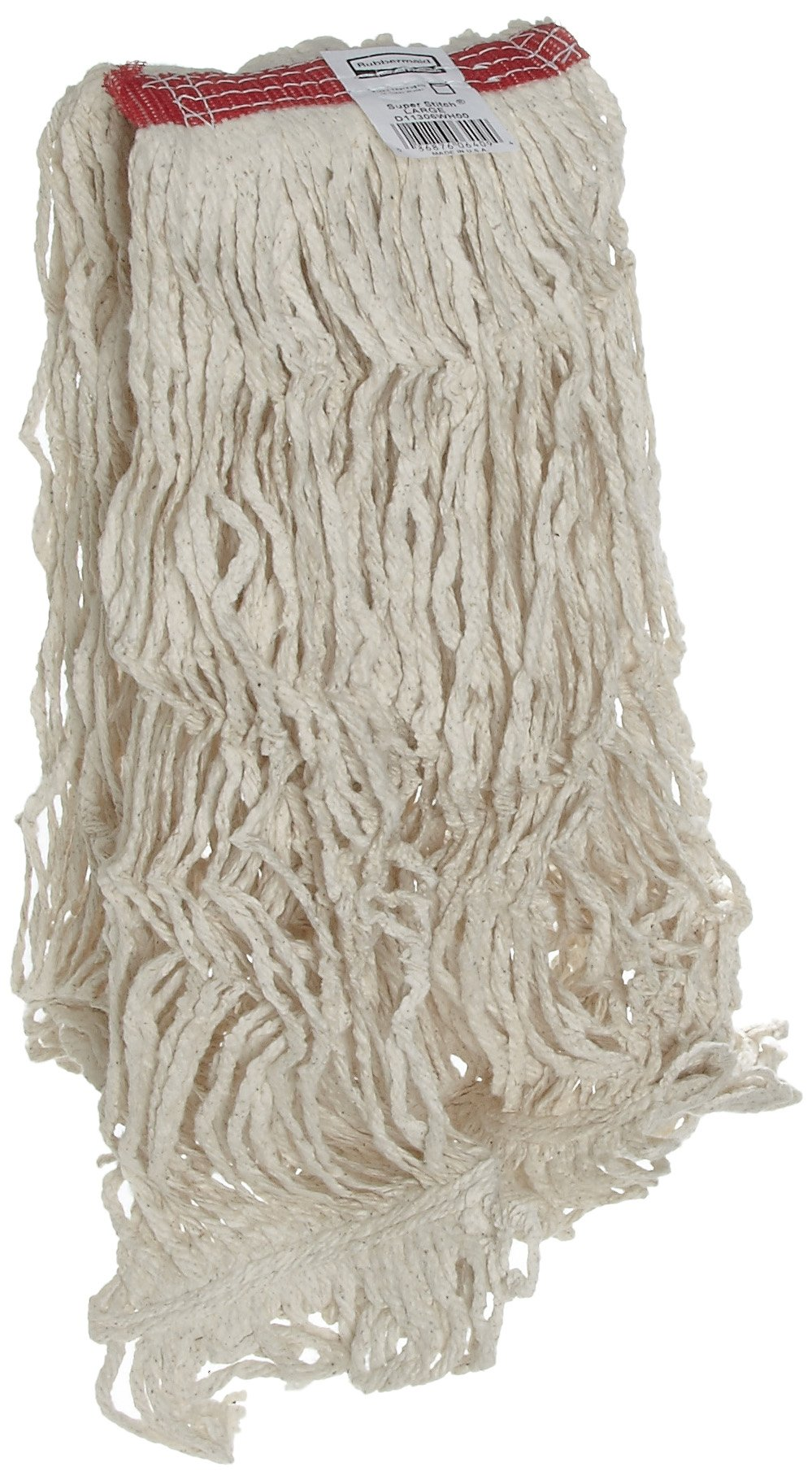 Rubbermaid Commercial Super Stitch Cotton Mop, Large, White, FGD11306WH00