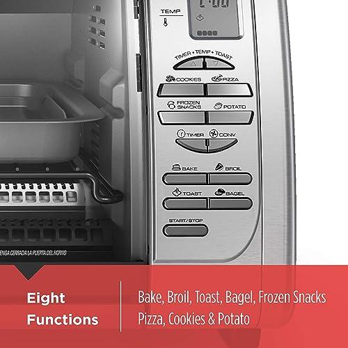 BLACK+DECKER Countertop Convection Toaster Oven, Silver