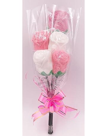 Ramo de rosas de espuma dulce marshmallow gominola - San Valentín