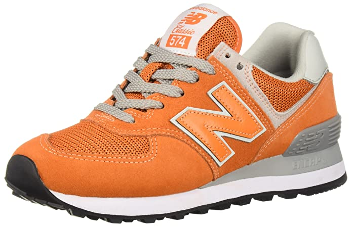 Amazon.com | New Balance Mens 574S Sport Sneaker, varsity orange/white, 7 4E US | Road Running