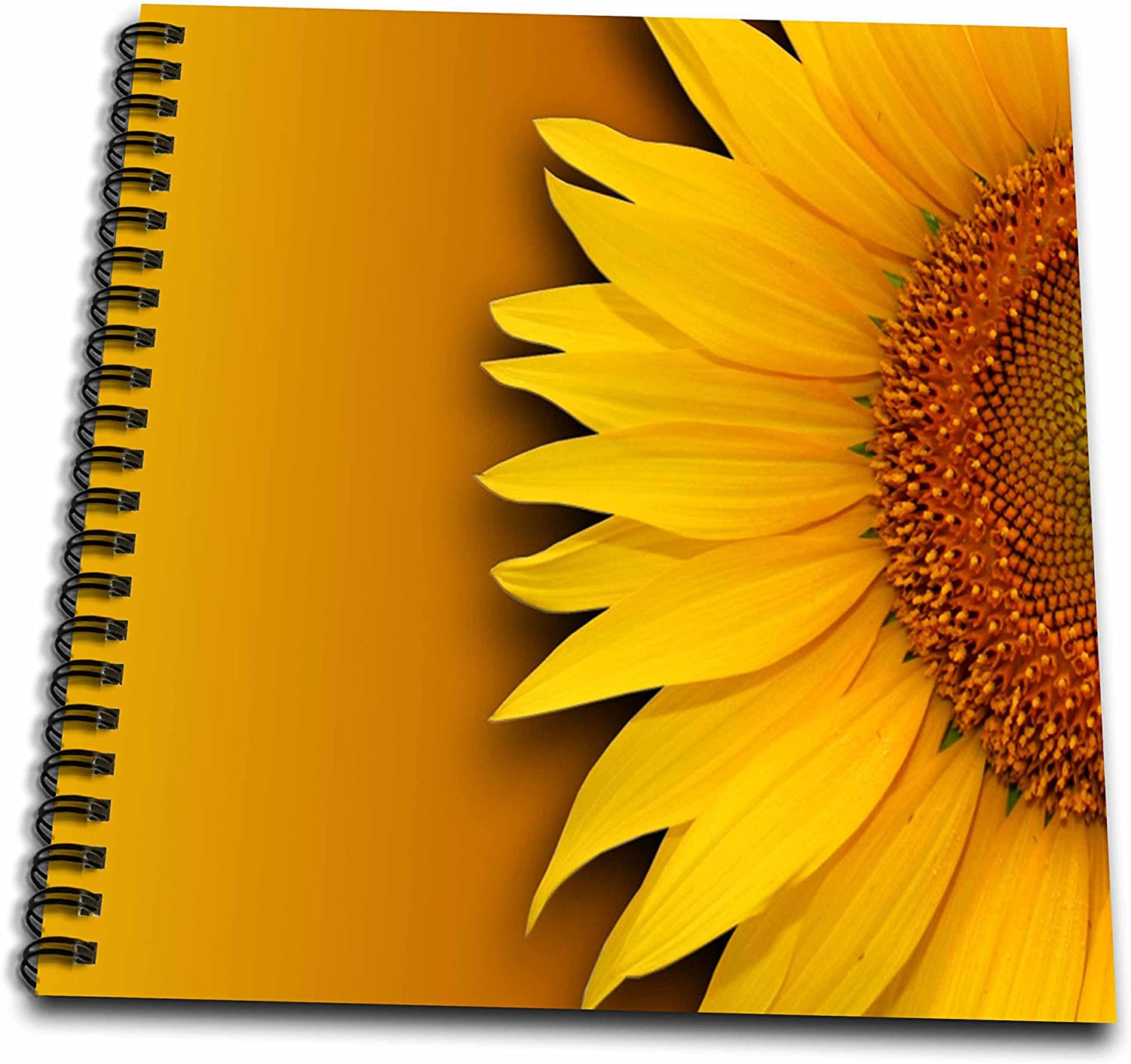 Amazon Com 3drose Db 284605 1 Floral Vibrant Sunflower Drawing Book 8 By 8 Inch Multicolor Arts Crafts Sewing