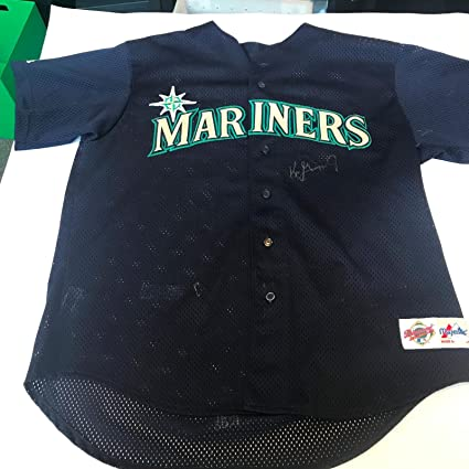 check out 6ab0e ed00f Ken Griffey Jr Twice Signed Early Career Authentic Seattle ...