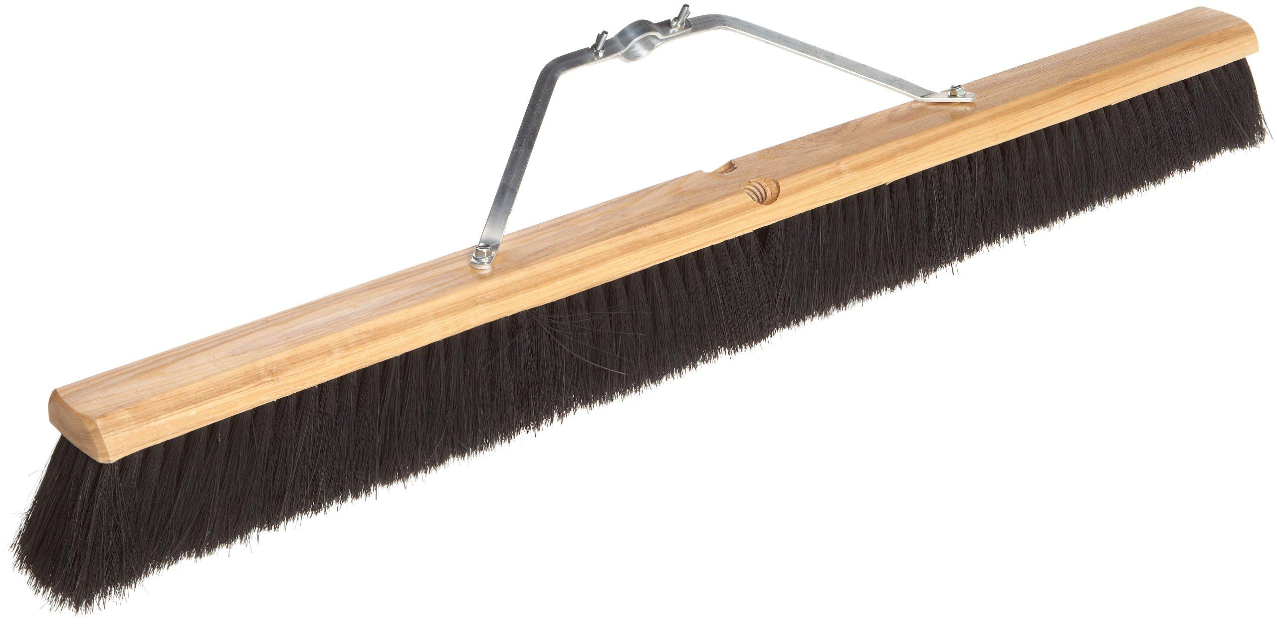 No. 10 Line Floor Brushes - 36'' black tampico floorbrush w/m60 340a1
