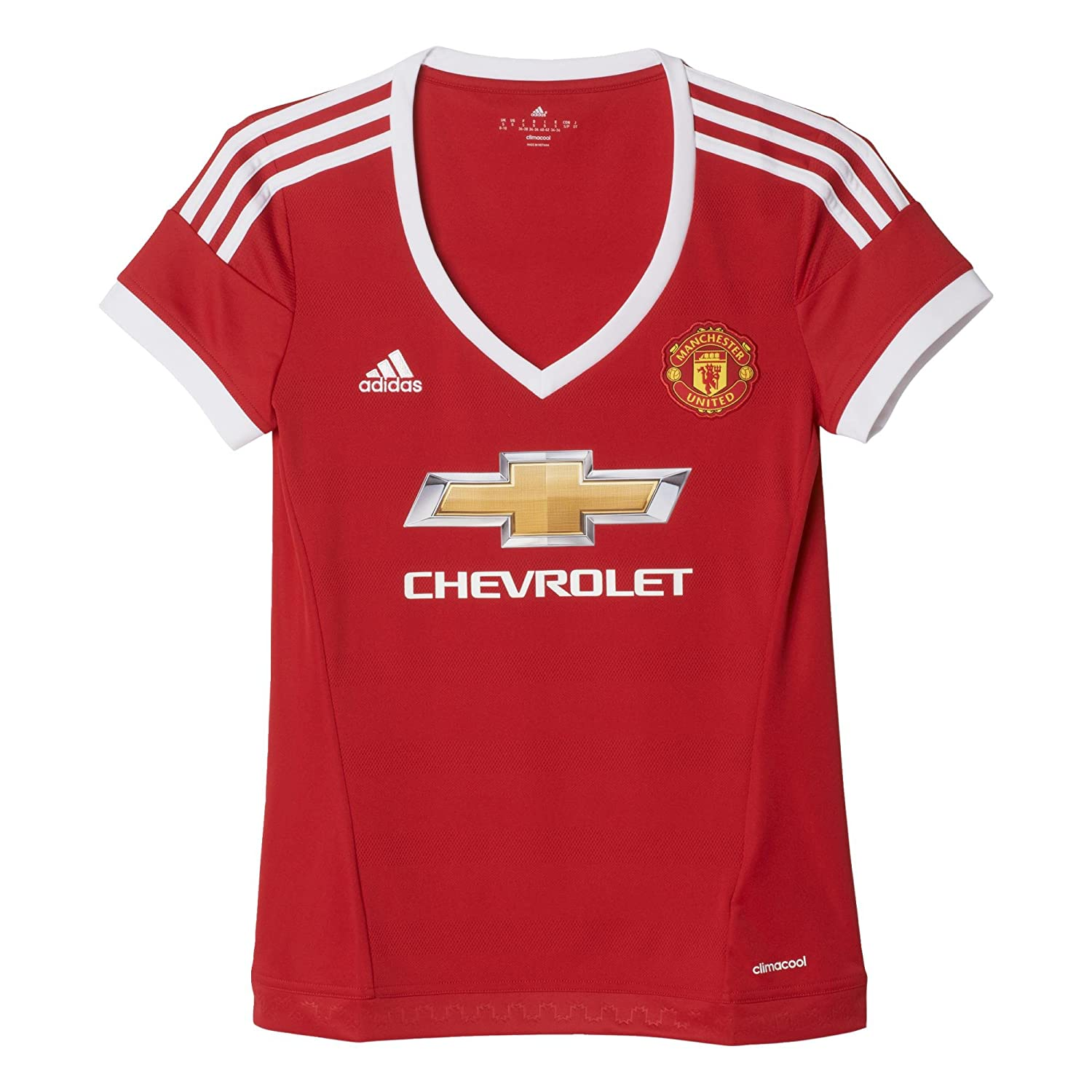 size 40 c6042 63867 adidas Women's Short-Sleeved Manchester United Replica Home Shirt