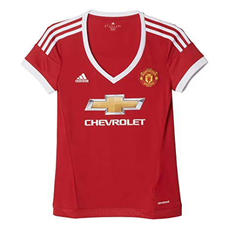 Amazon.com   adidas Womens MUFC Home Shirt - Red - 4-6UK   Sports ... 12245cc3f