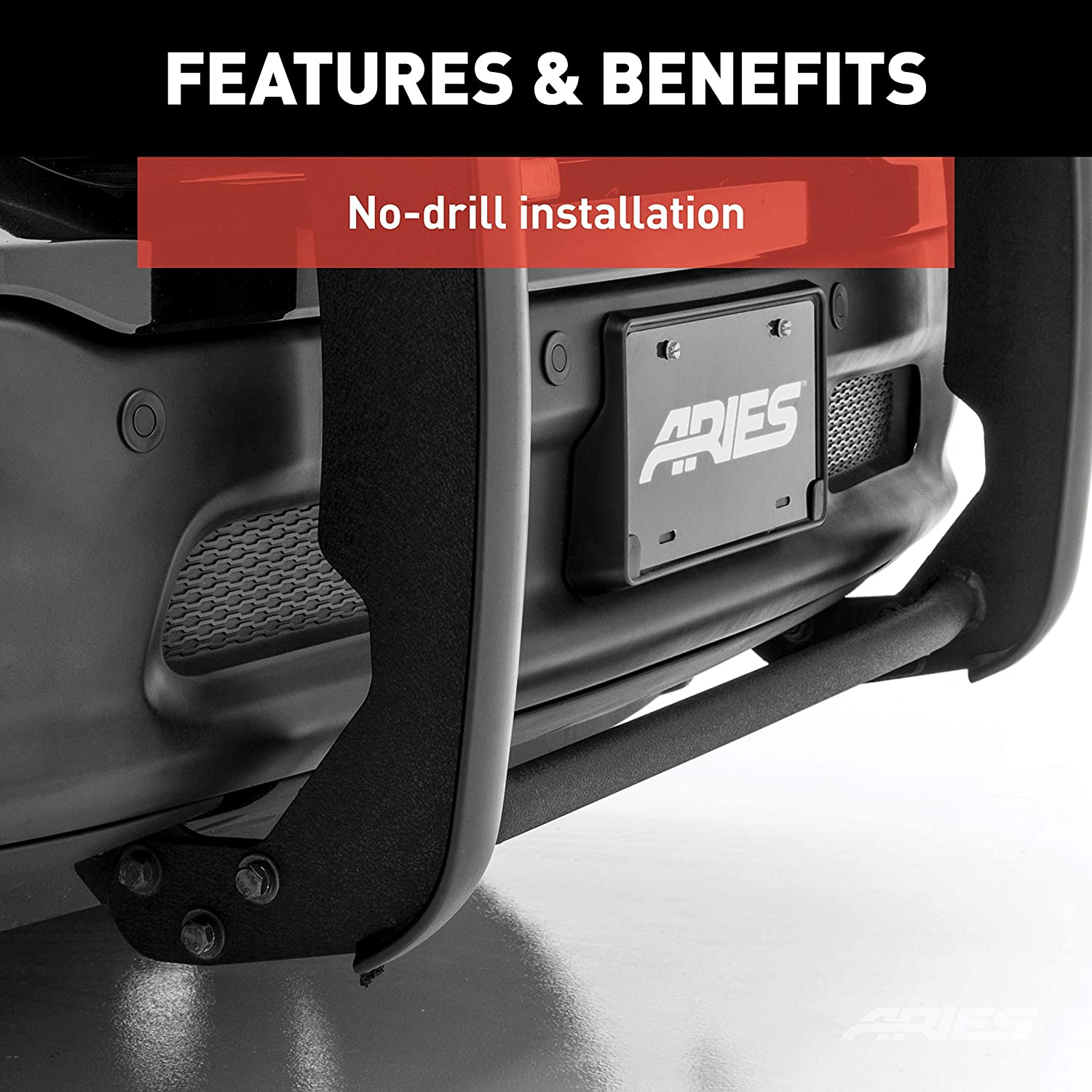 ARIES 4052 1-1//2-Inch Black Steel Grill Guard Select Chevrolet Avalanche 1500