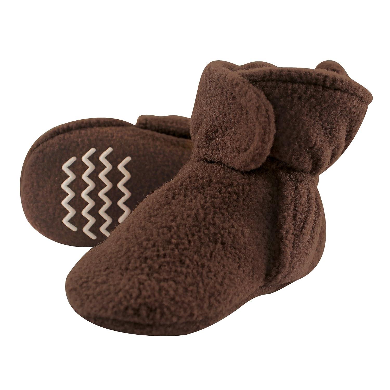 Hudson Baby unisex-baby Cozy Fleece Booties With Non Skid Bottom 10854640