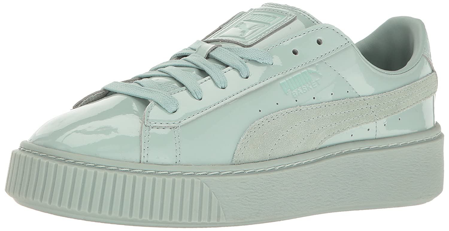 Amazon.com | PUMA Women's Basket Platform Patent Fashion Sneaker | Fashion  Sneakers