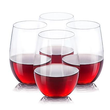 Vinostar Stemless Wine Glasses  100% Tritan  Premium Quality Glassware  BPA  Free,