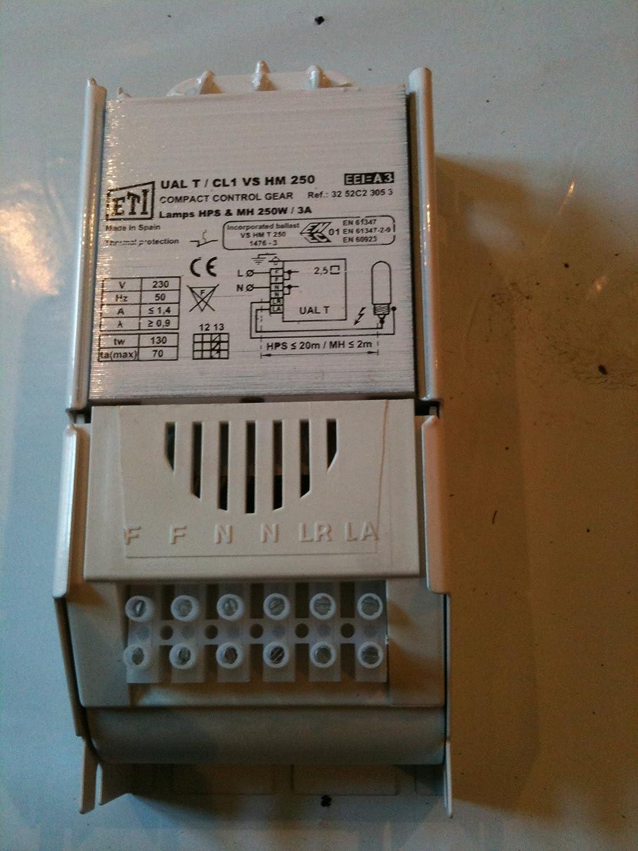 ETI 250W Vorschaltgerät UAL-T/CL1 Natriumdampflampe HPS / MH VSG für ...