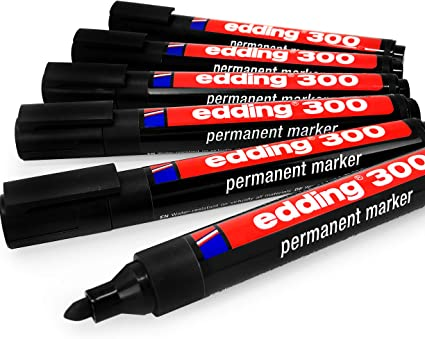 7 Markers 7 New Markers BLACK Good Quality BULLET TIP PERMANENT Marker Pens
