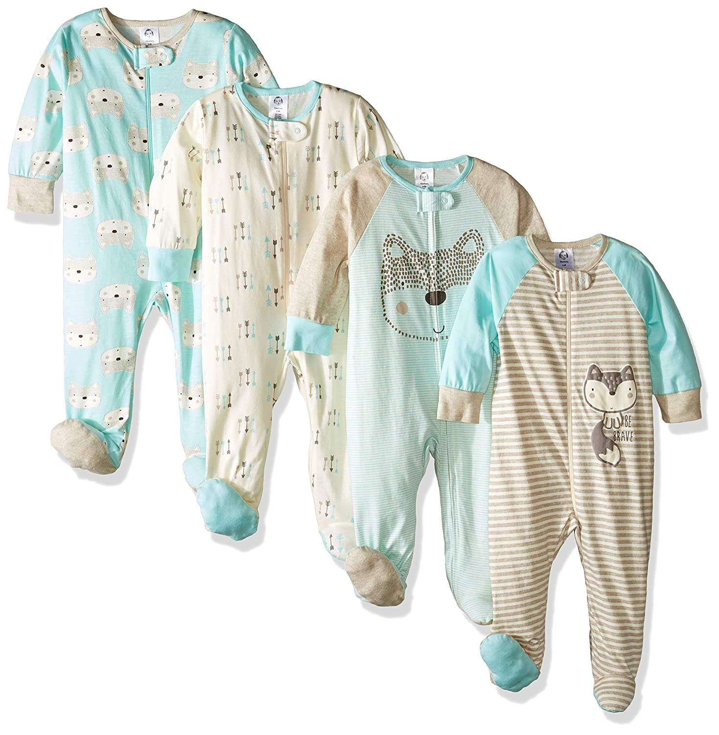 76291db2a Amazon.com  Gerber Baby Boys  4-Pack Sleep  N Play  Clothing
