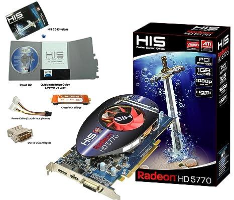 HIS HD 5770 1 GB GDDR5 - Tarjeta gráfica (1 GB, GDDR5, 128 ...