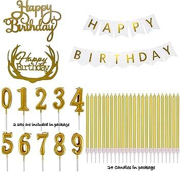Paquete de decoración de cumpleaños - 47 piezas - Cartel de ...