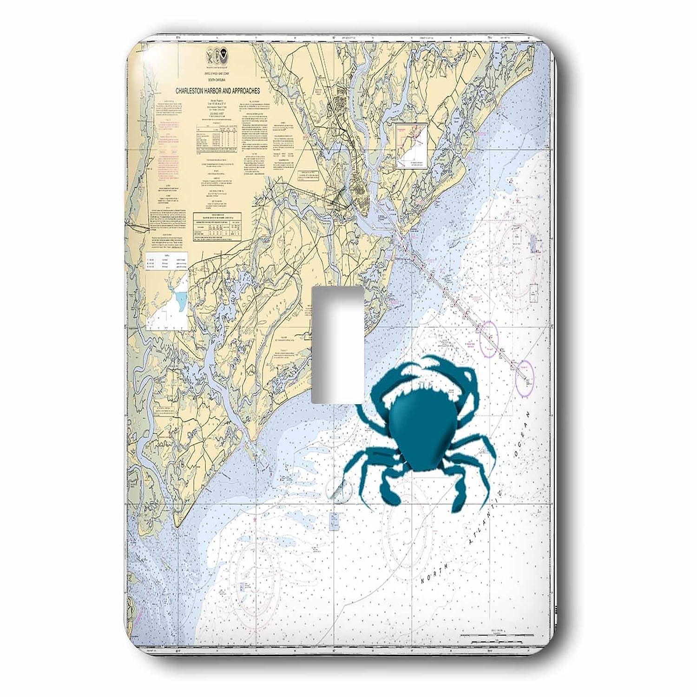 3drose LSP_ 204863_ 1印刷のチャールストン港グラフwith 204863 Blue Crab_ Single切り替えスイッチ_ B00UFDNNUQ, 西条市:e8de9c57 --- itxassou.fr
