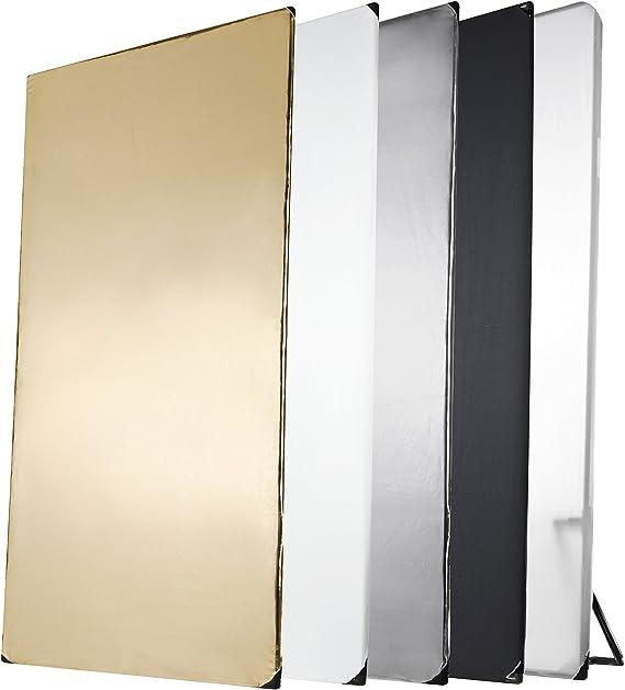 Incluye Bolso de Transporte Walimex 17689 Reflector Plegable de 56 cm Color Dorado y Plateado