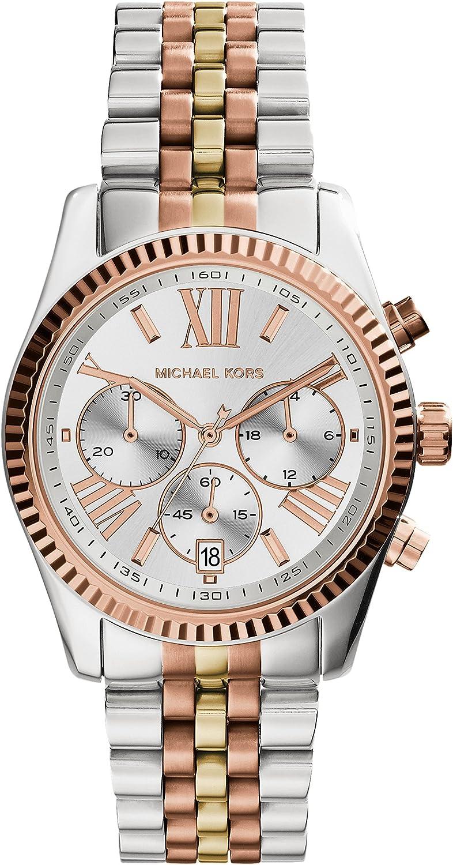 Michael Kors Reloj Cronógrafo para Mujer de Cuarzo con Correa en Acero Inoxidable MK5735