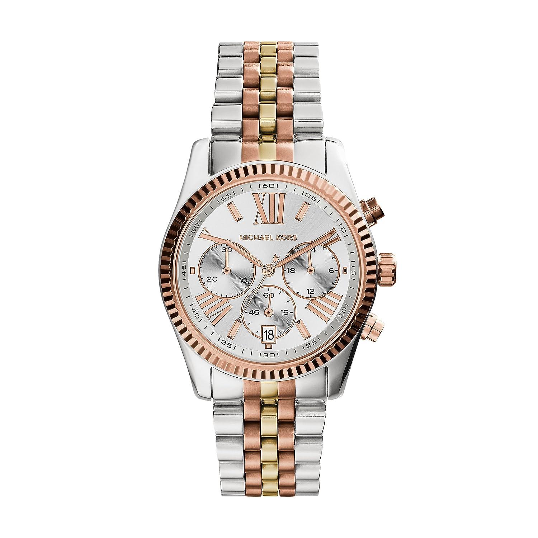 9ca939661280 Amazon.com  Michael Kors Women s MK5735 - Sport Lexington Chronograph Tri- Tone  Michael Kors  Watches
