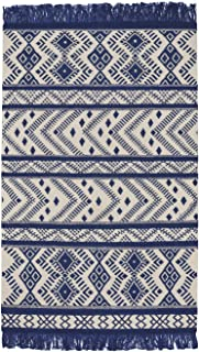 product image for Capel Rugs Genevieve Gorder Abstract Rectangle Flat Woven Rug, 8' x 11', Royal