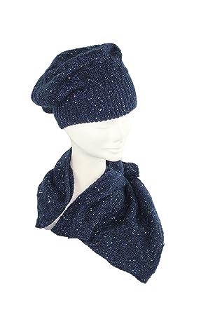 ec2a12560ad2 Complit - Ensemble bonnet, écharpe et gants - Femme bleu bleu foncé Taille  unique