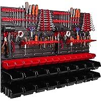 Opslagsysteem wandrek 1152 x 780 mm, gereedschapshouders, stapelboxen kijkopslagkasten, extra sterke wandplaten, rek…