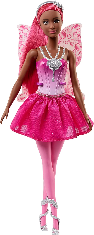 Amazon.es: Barbie Dreamtopia, muñeca hada con falda rosa, juguete ...