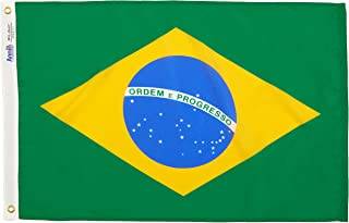 product image for Annin Flagmakers Model 190839 Brazil Flag Nylon SolarGuard NYL-Glo, 2x3 ft, 100% Made in USA to Official United Nations Design Specifications
