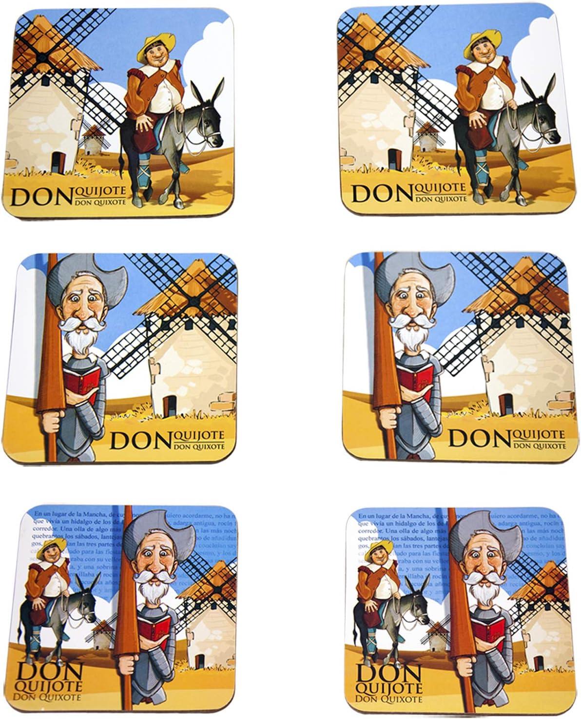 10/cm Arabesk Tassen Giordano di Ponzano/® Untersetzer f/ür Gl/äser Blumenvasen oder Kerzen Korkbasis 6/St/ück quadratisch hochwertiges Design