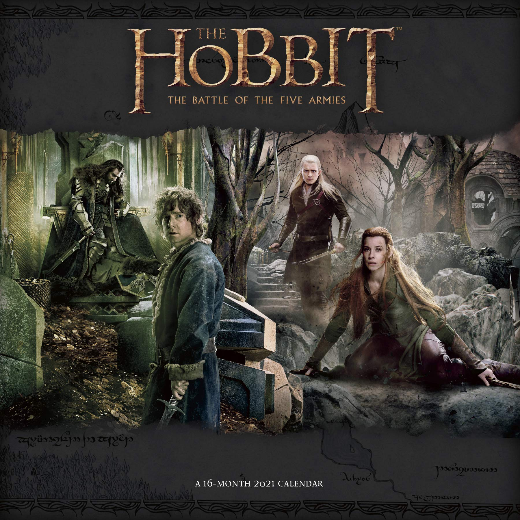 2021 The Hobbit Wall Calendar: Trends International: 0057668213303